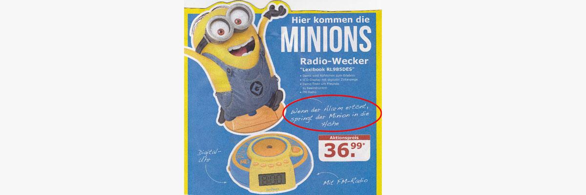 Was ein Minion Radiowecker mit Prozessdigitalisierung zutun hat