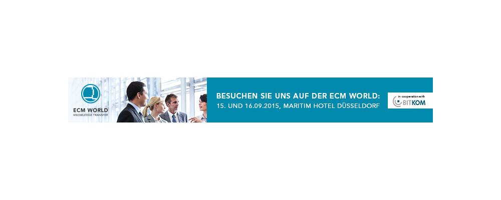 Einladungsbanner ECM World