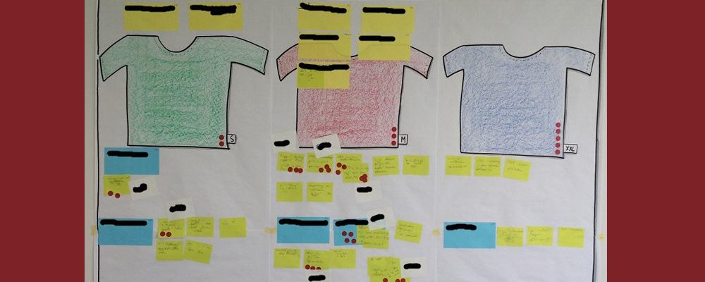 T-Shits und Klebezettel als Methode der Softwareentwicklung