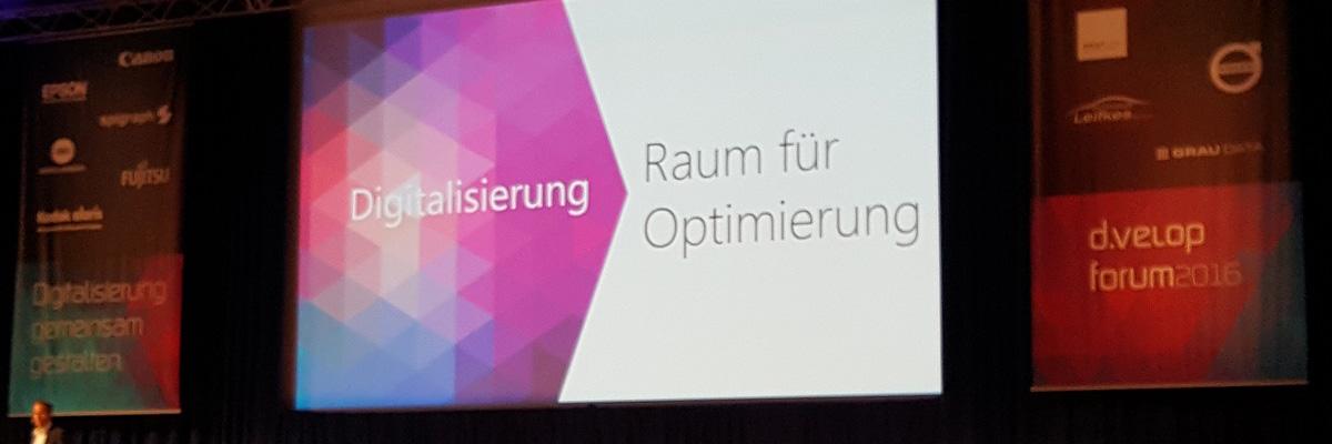 Präsentation auf dem d.velop forum 2016
