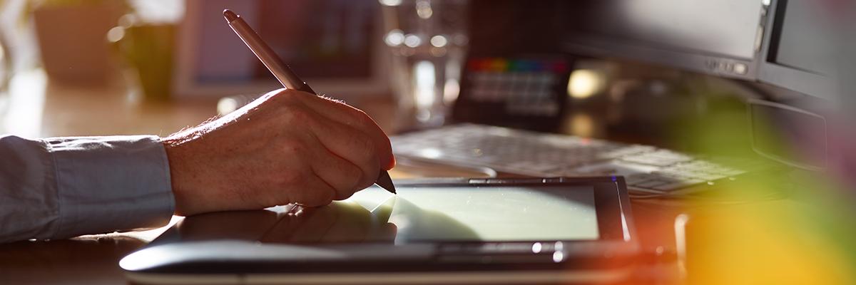 digitale Unterschrift erstellen, eIDAS Verordnung Tablet