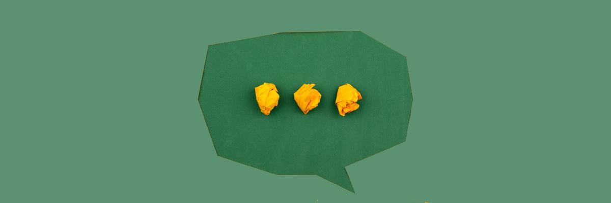 Sprechblase als Symbol für Messenger in Unternehmen