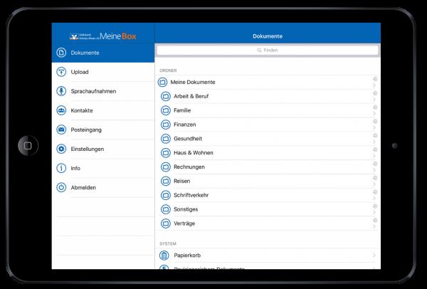 VBGA MeineBox digitaler Service zur Kundenbindung bei Banken