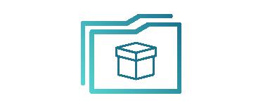 Das Icon zeigt eine digitale Produktakte für die Industrie