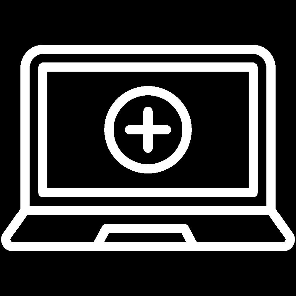 Desktop-Icon in weißer Farbe