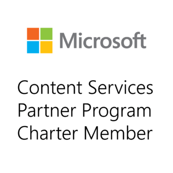 Logo Charter Member Microsoft Content Services Partner Programm