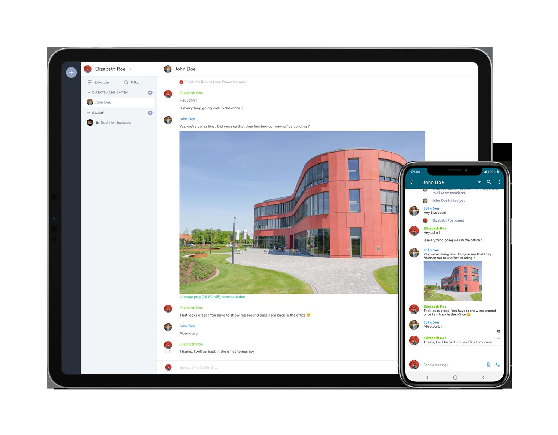 Chat in der d.velop Mitarbeiter App