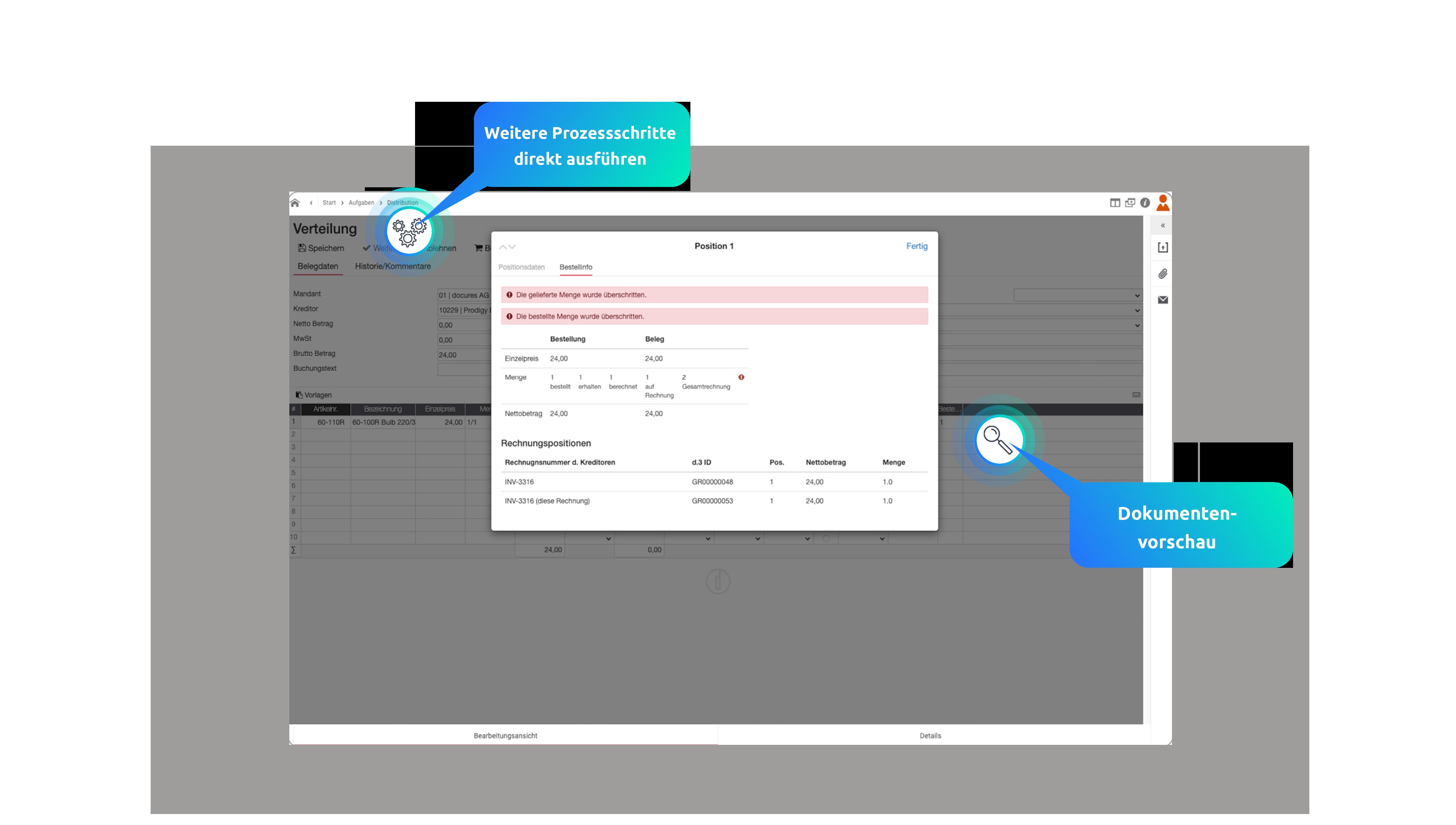 Digitale Rechnungsverarbeitung mit d.velop smart invoice