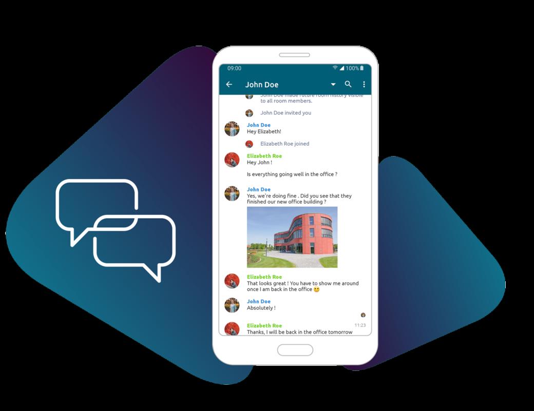 Mitarbeiter Chat via App
