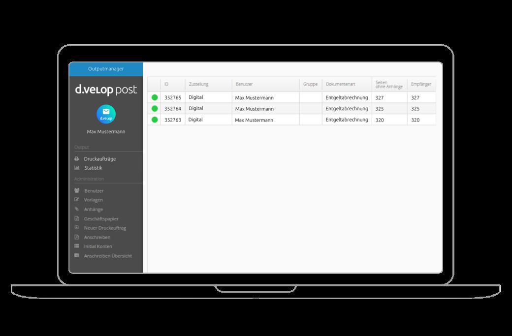 Intuitive und leichte Bedienung der d.velop post zur Verwaltung Ihrer digitalen Post