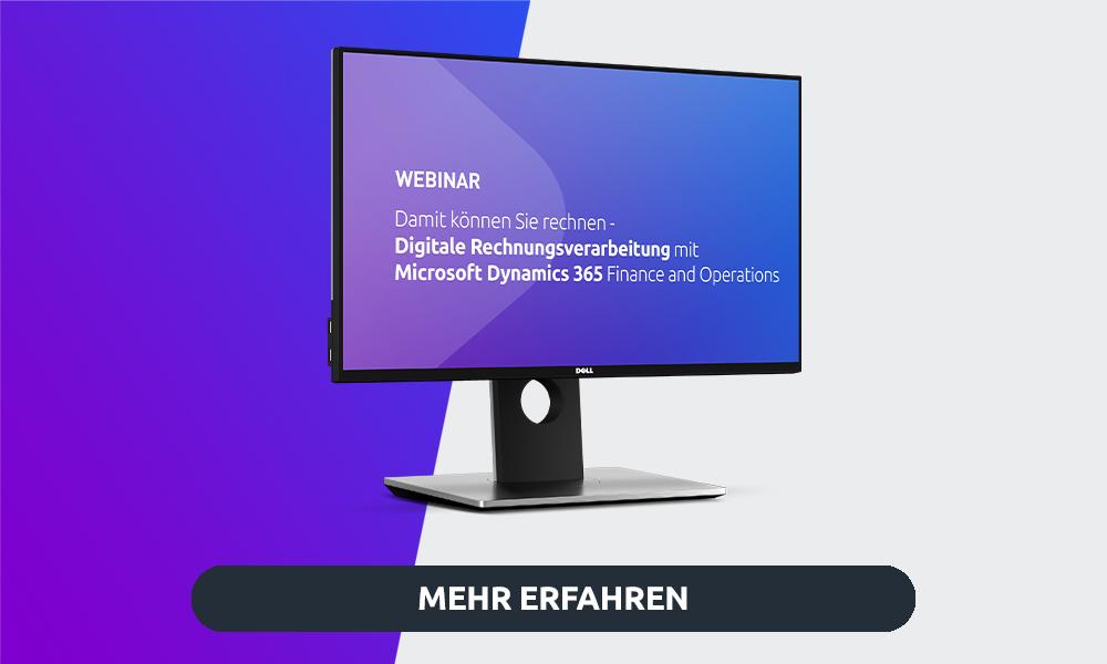 Webinar Digitale Rechnungsverarbeitung mit M365 Finance and Operations