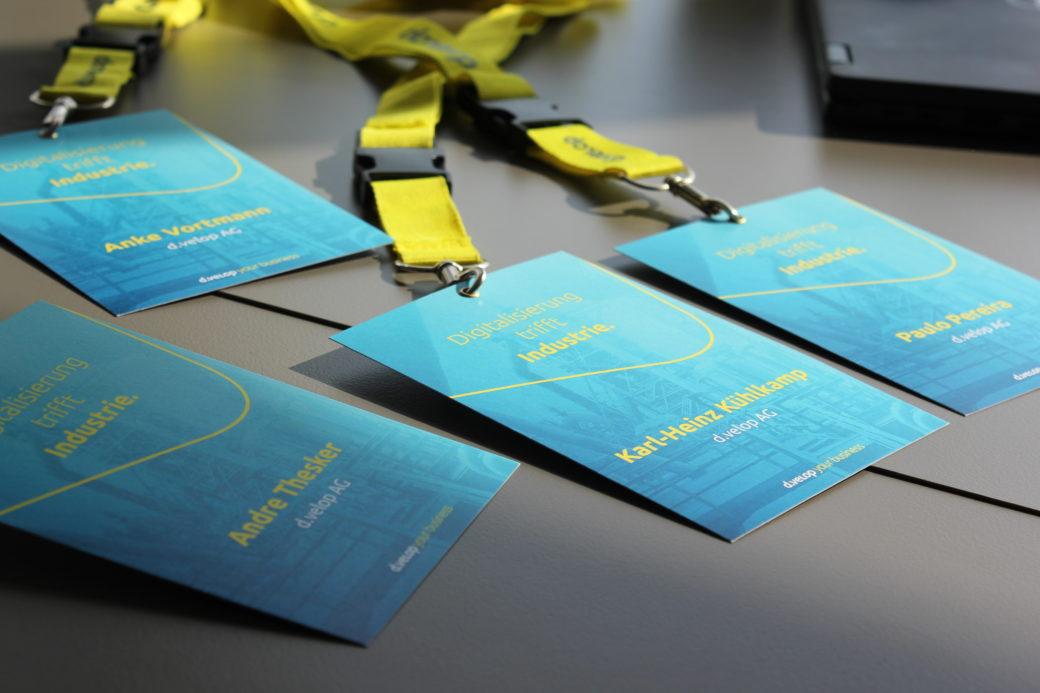 Teilnehmerkarten auf dem Innovation for Industry