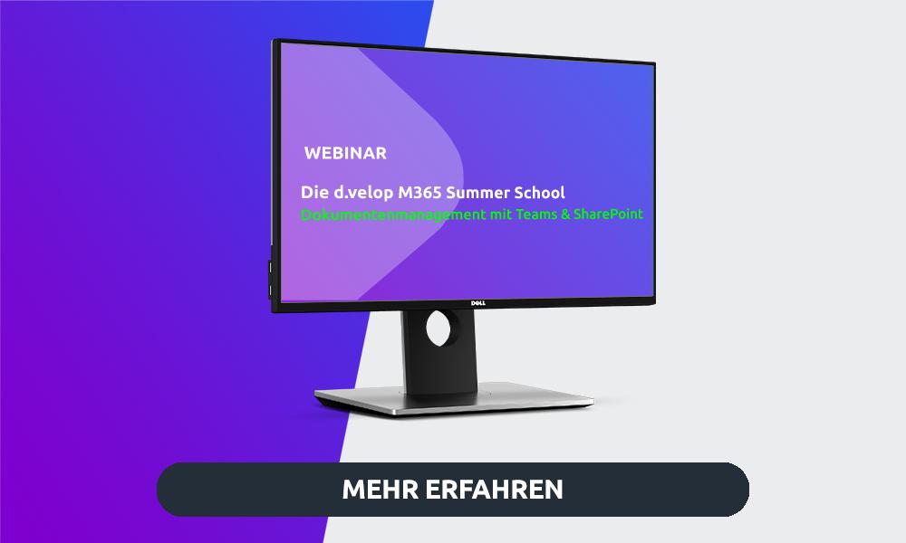 Webinar DMS mit Teams und SharePoint