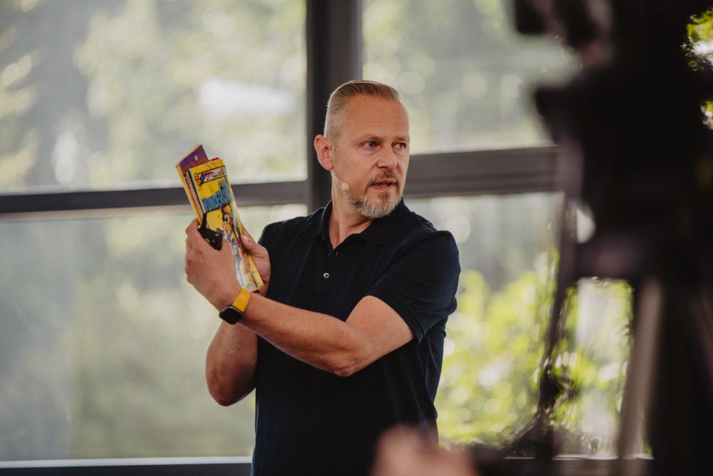 Mario Dönnebrink, CEO der d.velop AG, überraschte mit einer sehr persönlichen, eindringlichen Keynote