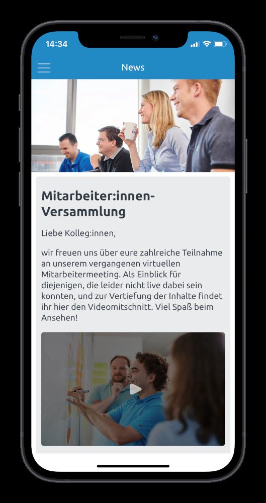 Neuigkeiten in der Mitarbeiter-App